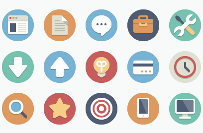 Beautiful Flat Icons featured