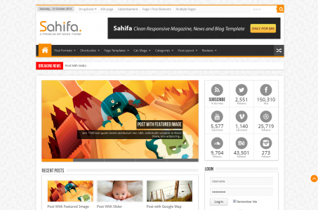 Sahifa Blog Magazine Newspaper Template