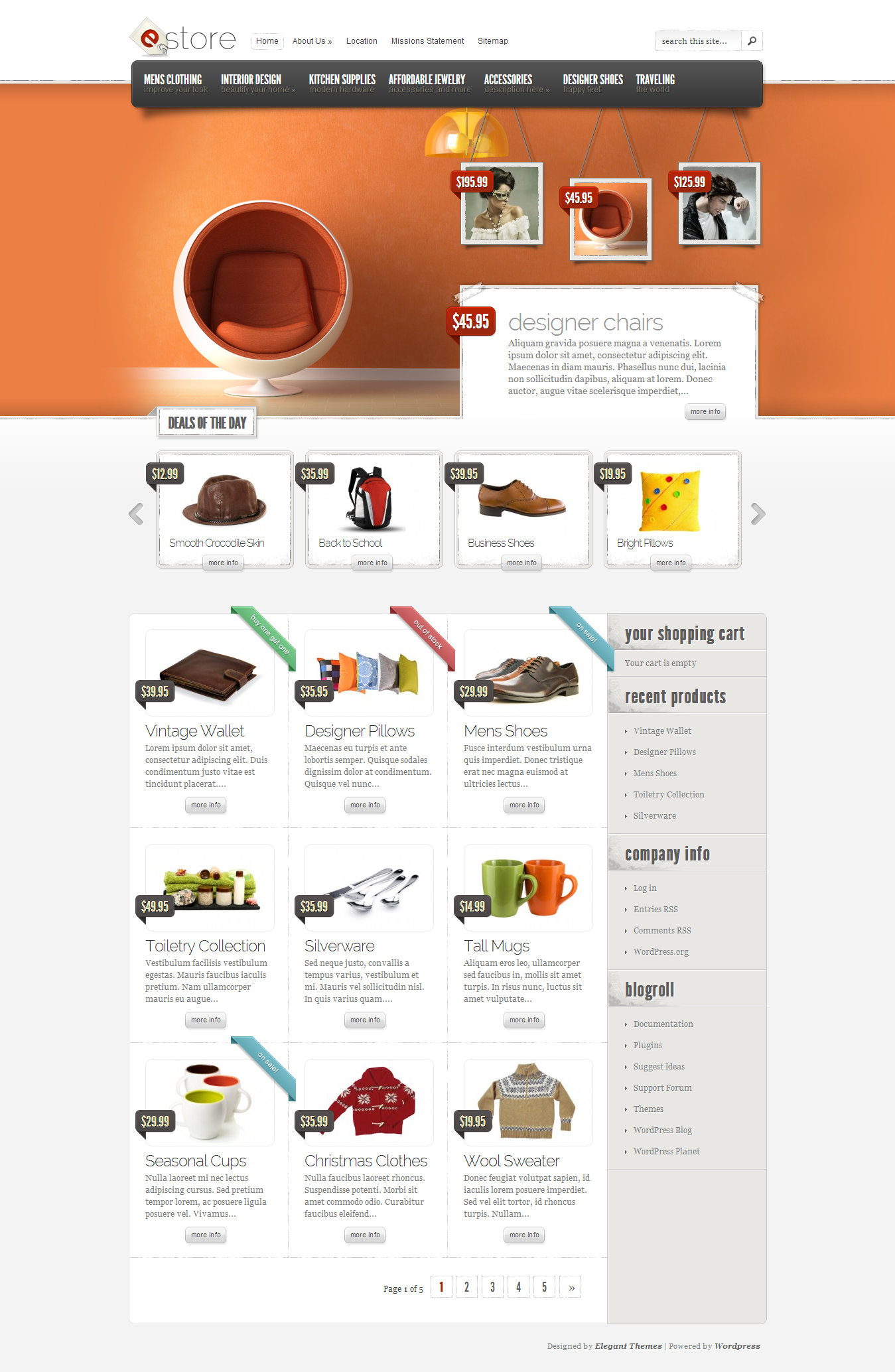 eStore eCommerce WordPress Theme - Creative WordPress Themes Awards