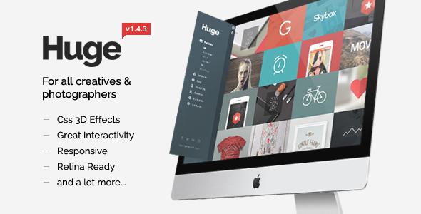 huge is creative 3d wordpress theme