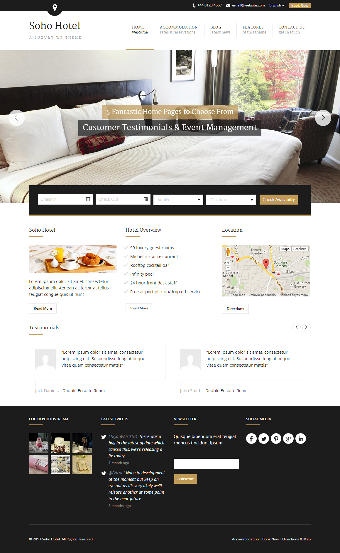 Soho Hotel A Luxury WP Theme