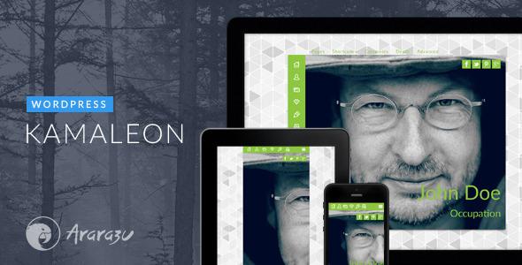 kamelon 3d wordpress theme v-card