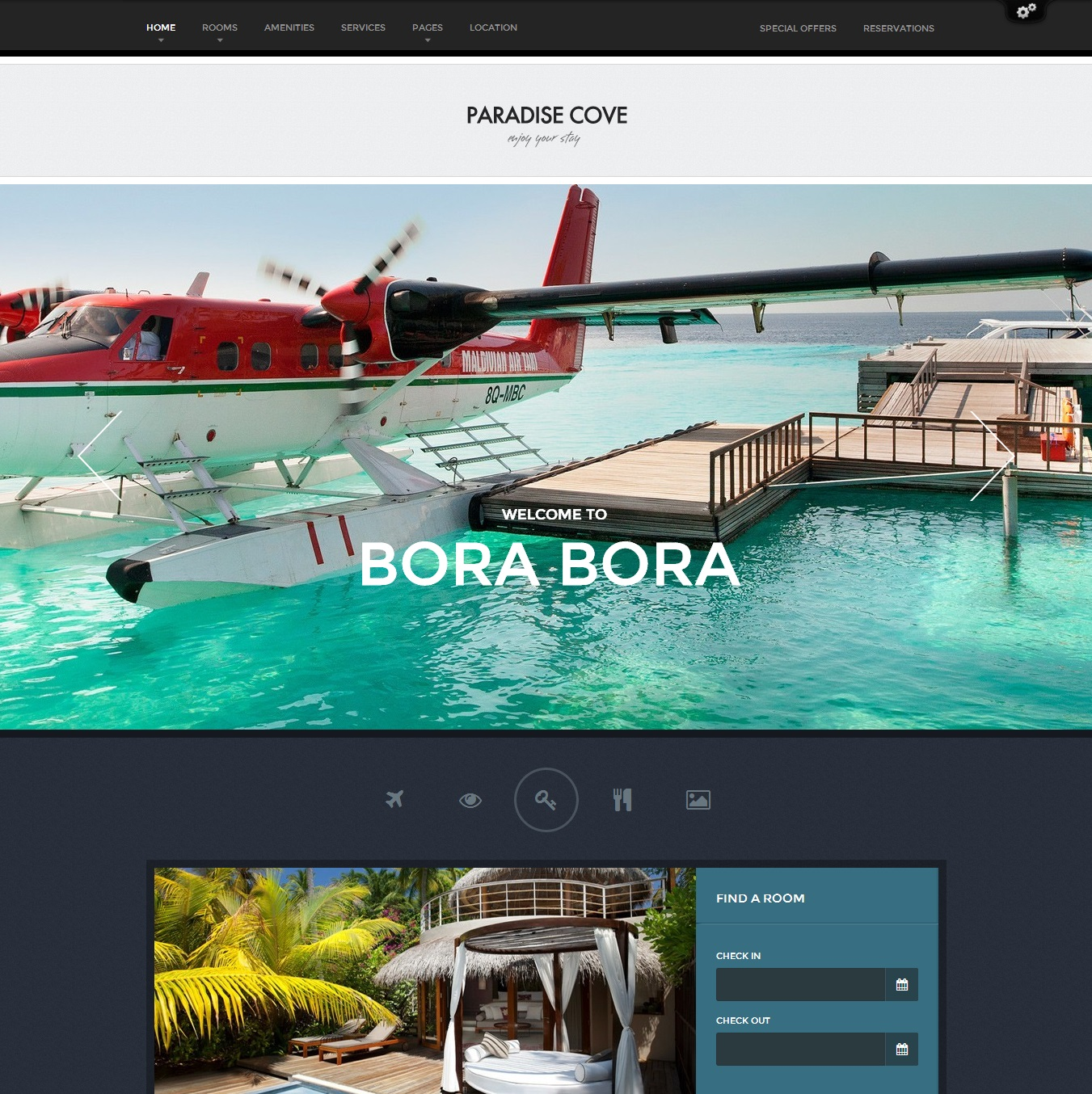Paradise Cove   WordPress Hotel Theme