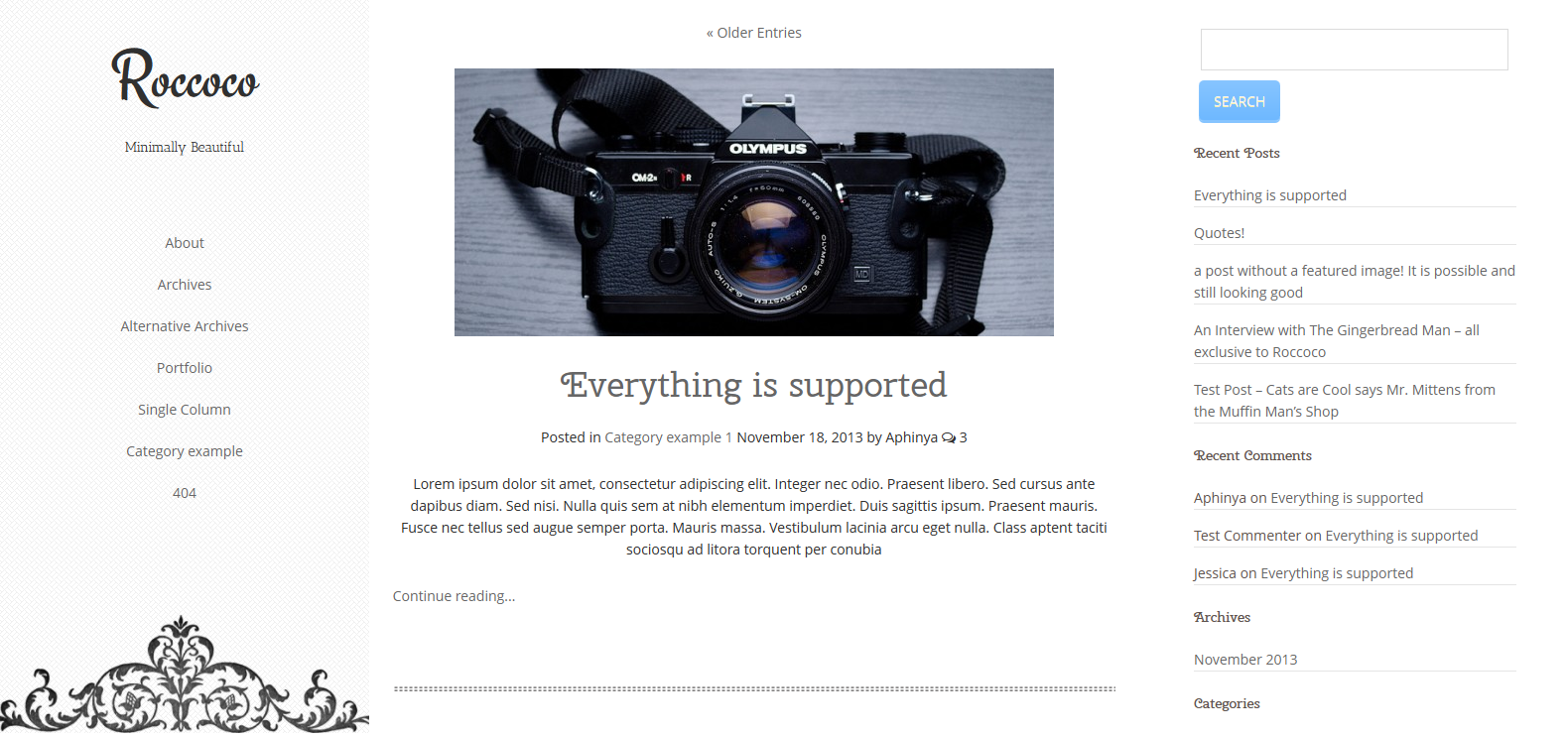 minimal wordpress themes of 2014