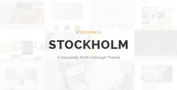 stockholm minimalistic wordpress design