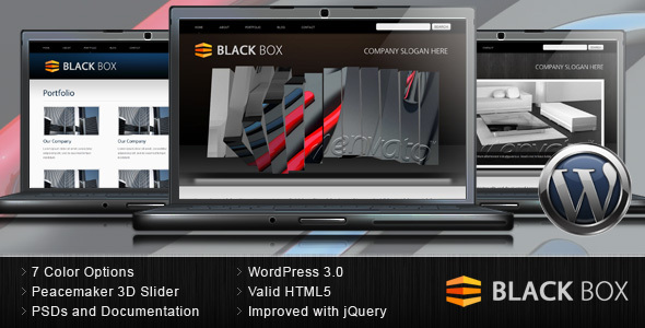 black box 3d wordpress slider