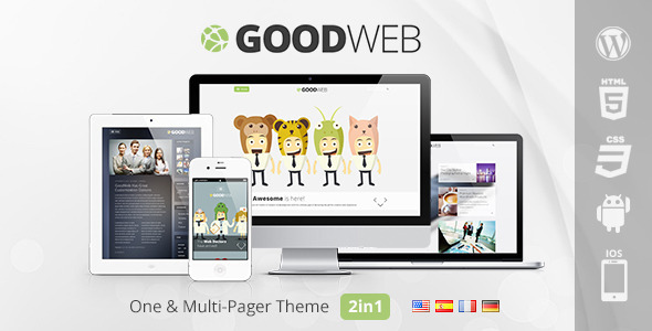 goodweb minimal wordpress theme
