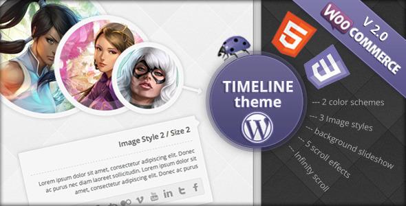3d timeline wordpress theme