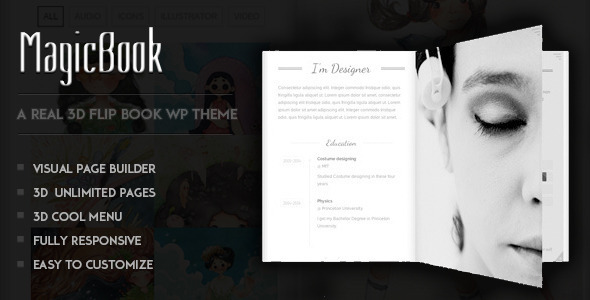 magicbook 3d theme