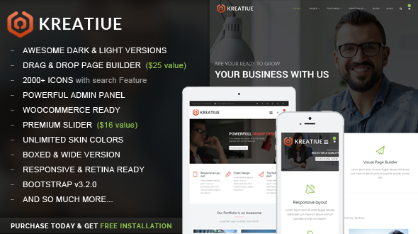 kreatiue wordpress theme