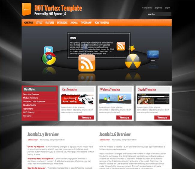 hot vortex 3d wordpress theme