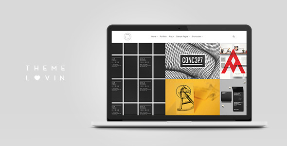 Mug: Clean Creative Multipurpose Grid Simple WordPress Portfolio