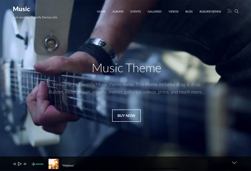 music simple wordpress theme