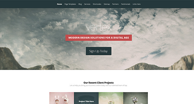 vertex simple blog clean wordpress theme