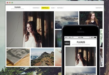 horizontal wordpress themes