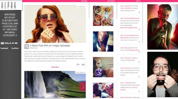Horizontal WordPress HTML 5 Portfolio Theme