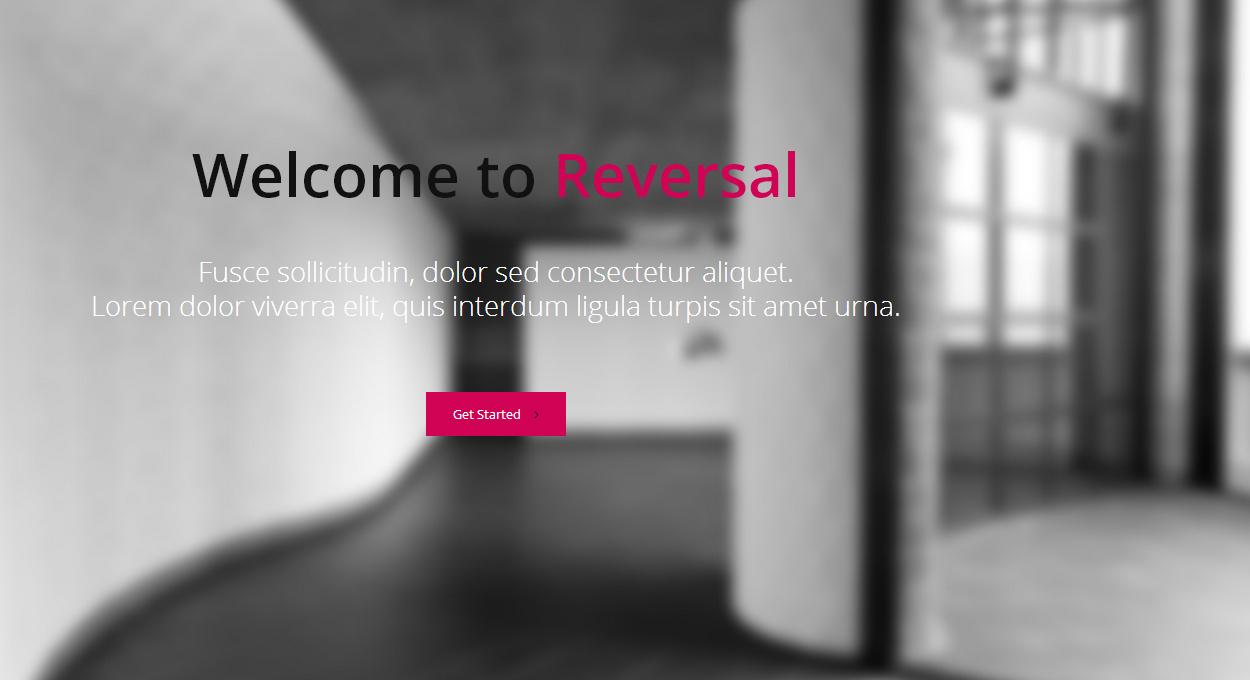 Horizontal One Page WordPress Theme