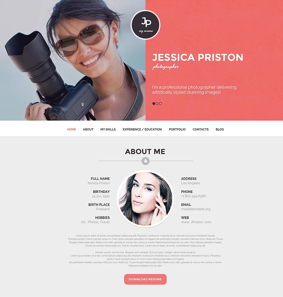 10  best resume wordpress themes 2015