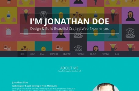 professional resume wordpress theme