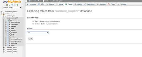 wordpress backup step 3